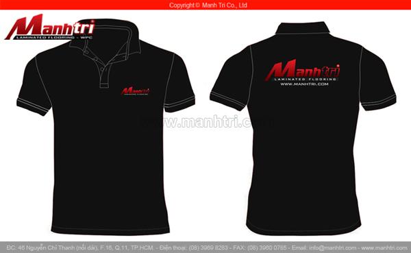 Hình ảnh áo đồng phục của công ty ván sàn gỗ Mạnh Trí