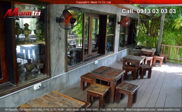 Hình ảnh gỗ nhựa Awood HD140x25 khi hoàn thiện tại quận Phú Nhuận