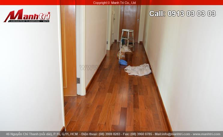 Hình ảnh ván sàn gỗ tự nhiên Căm Xe lót sàn tại quận 3, TPHCM