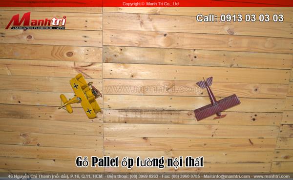 Hình ảnh gỗ tự nhiên Thông ốp tường theo kiểu Pallet