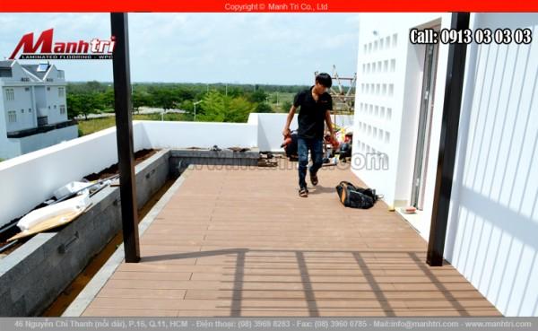 Ván gỗ nhựa Awood lót sàn khi hoàn thiện tại quận 7, TPHCM
