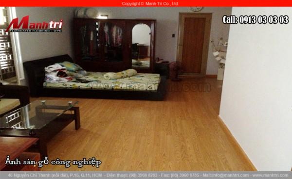 Hình ảnh sàn gỗ công nghiệp Malaysia lót sàn phòng ngủ