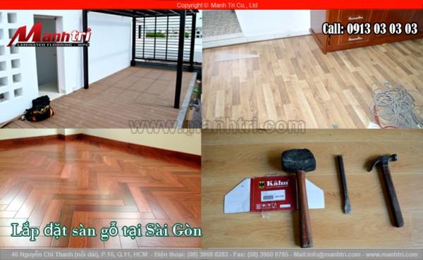 Hình ảnh lắp đặt sàn gỗ tại Sài Gòn của Mạnh Trí