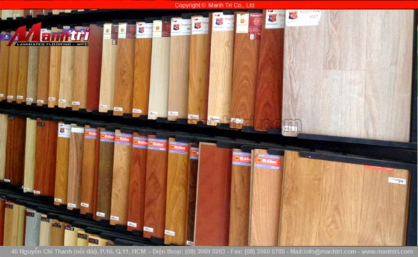 Hình ảnh mẫu gỗ công nghệ Đức tại Showroom công ty Mạnh Trí