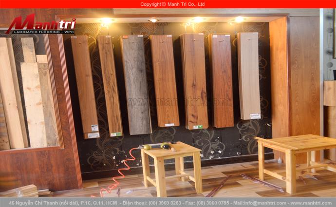 Hình ảnh ván gỗ công nghiệp Malaysia tại Showroom Mạnh Trí