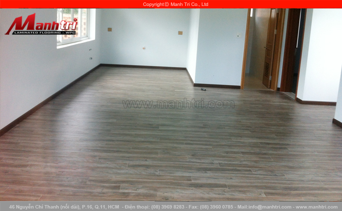 Hình ảnh gỗ công nghiệp Janmi lót sàn nhà khi hoàn thiện