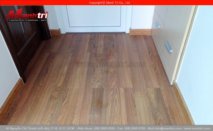Hình ảnh ván gỗ công nghiệp khi lót sàn nhà hoàn thiện