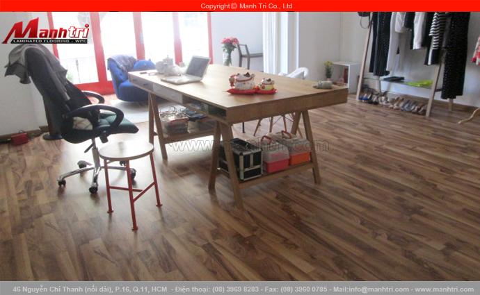 Hình ảnh gỗ công nghiệp lót sàn nhà hòan thiện