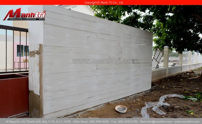 Ảnh gỗ Conwood ốp tường ngoài trời khi hoàn thiện