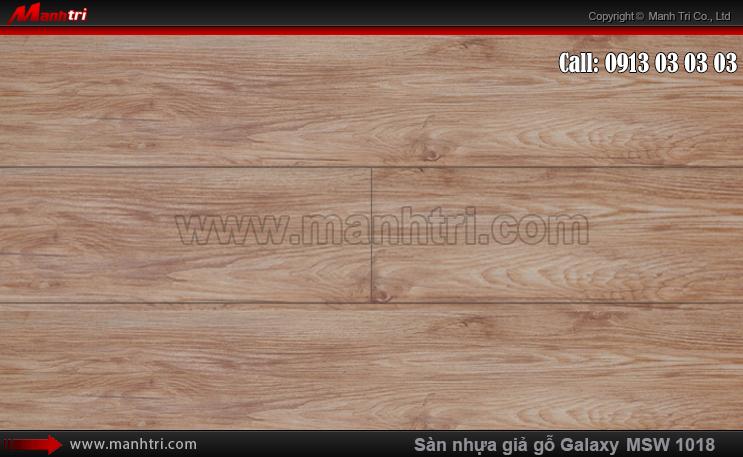 Sàn nhựa giả gỗ MSW 1018