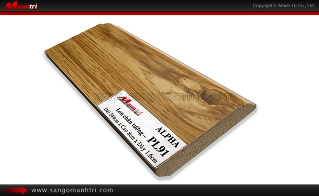 Len chân tường sàn gỗ PL91