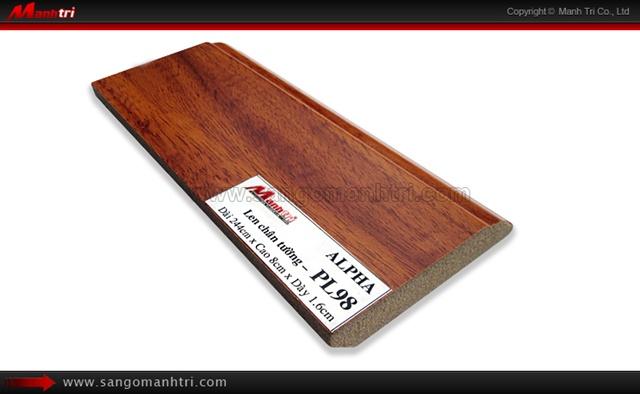 Len chân tường sàn gỗ PL98