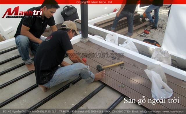 Cửa hàng bán sàn gỗ Mạnh Trí