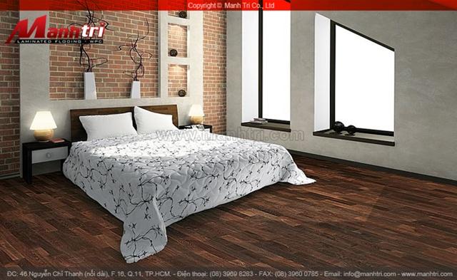 Sàn gỗ tự nhiên cho phòng ngủ