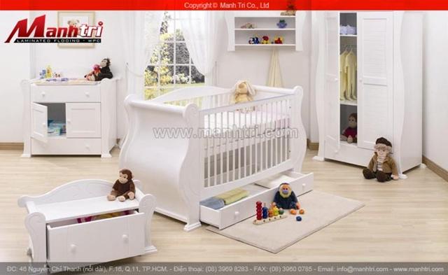 Sàn gỗ tự nhiên cho phòng Baby