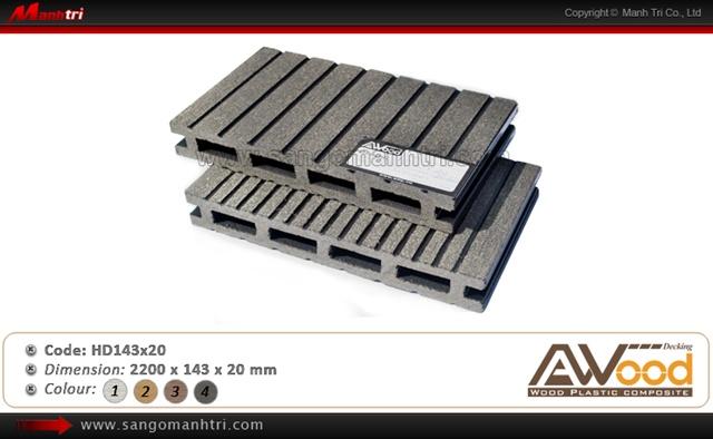 sàn gỗ ngoài trời Awood HD143x20