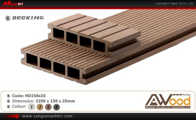 sàn gỗ ngoài trời Awood HD150x25