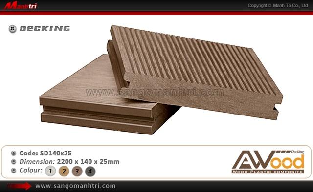 sàn gỗ ngoài trời Awood SD140x25