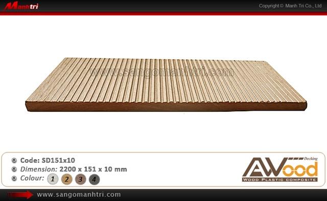 sàn gỗ ngoài trời Awood SD151x10