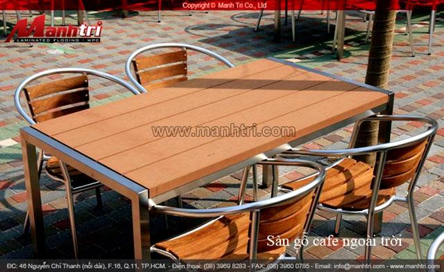 Ghế nhựa và gỗ ngoài trời