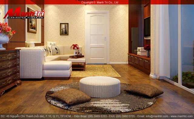 Sàn gỗ Inovar - Ảnh công trình hoàn thiện sau khi thi công lắp đặt