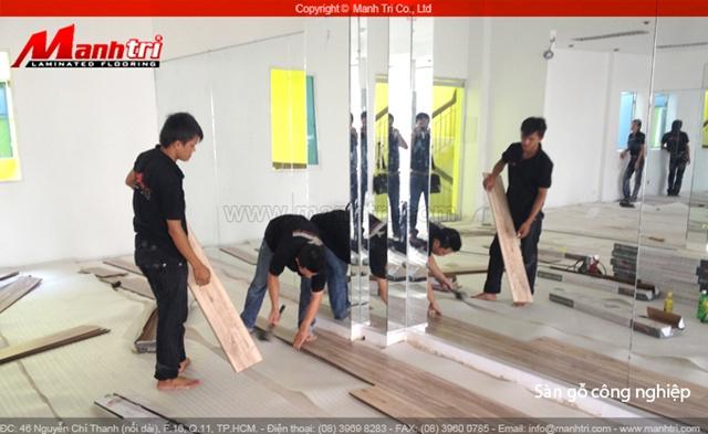 Thi công ván sàn gỗ