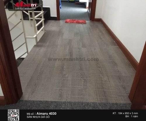Thi công sàn nhựa giả gỗ Aimaru 4030 tại Q.Tân Bình, TP.HCM