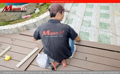 Ván gỗ nhựa ngoài trời Awood HD135x25 lắp đặt tại quận Bình Thạnh, Tp.HCM
