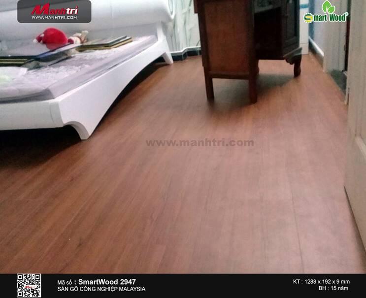 Thi công sàn gỗ công nghiệp SmartWood 2947 tại Chung cư TDH Trường Thọ, Q.Thủ Đức