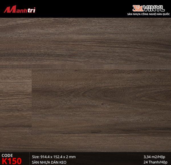 Sàn nhựa giả gỗ 3K Vinyl K150