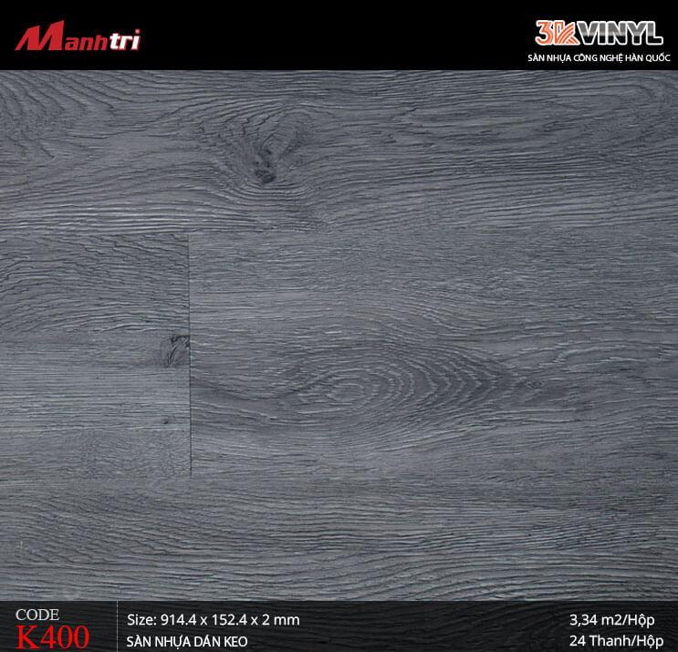 Sàn nhựa giả gỗ 3K Vinyl K400