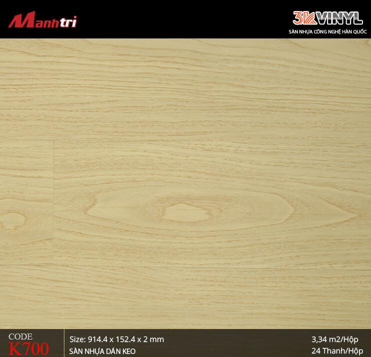 Sàn nhựa giả gỗ 3K Vinyl K700