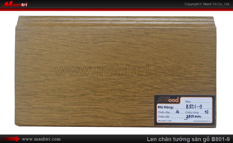 Len chân tường sàn gỗ Awood B801-9