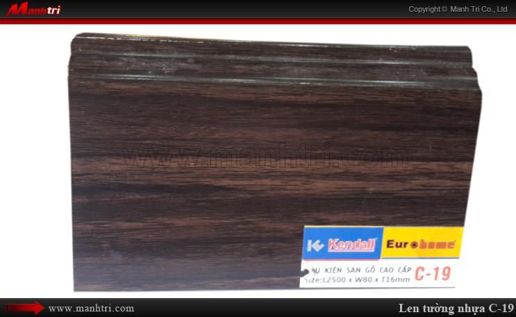Len chân tường sàn gỗ L 19