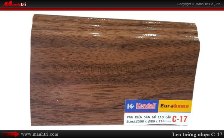 Len chân tường sàn gỗ C 17