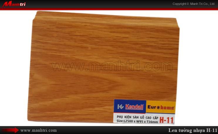 Len chân tường sàn gỗ H 11