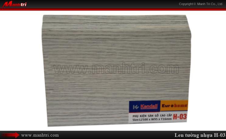 Len chân tường sàn gỗ H 03