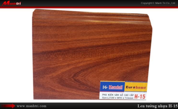 Len chân tường sàn gỗ H 15