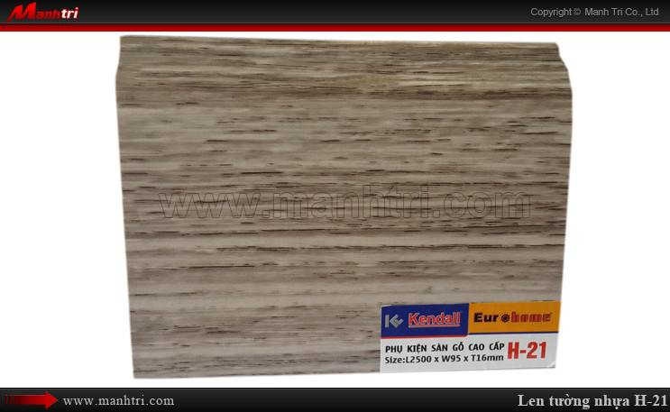 Len chân tường sàn gỗ H 21