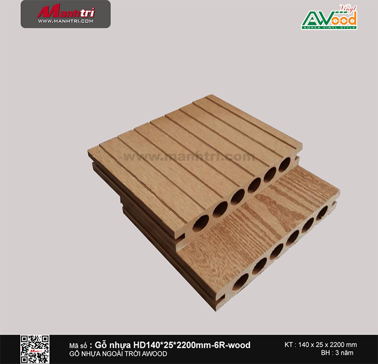Sàn gỗ Awood HD140x25-6R Wood