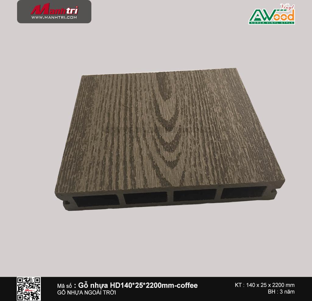Sàn gỗ Awood HD140x25-4S Coffee