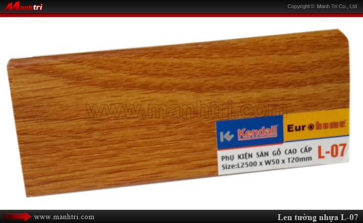 Len chân tường sàn gỗ L 07