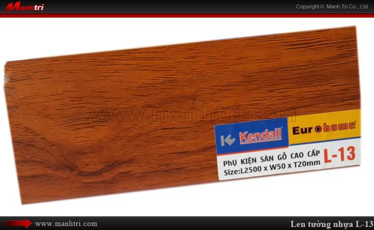 Len chân tường sàn gỗ L 13