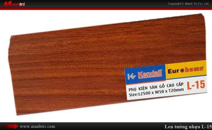 Len chân tường sàn gỗ L 15