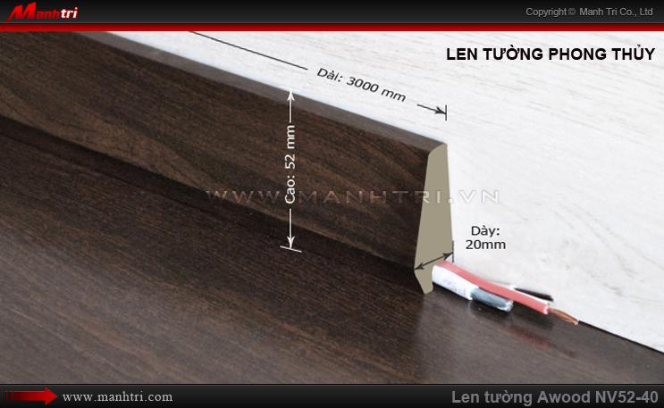 Len chân tường sàn gỗ Awood NV52-40