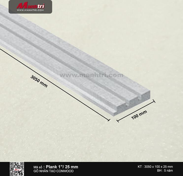"Ván ốp trang trí CONWOOD Plank 1""/25"