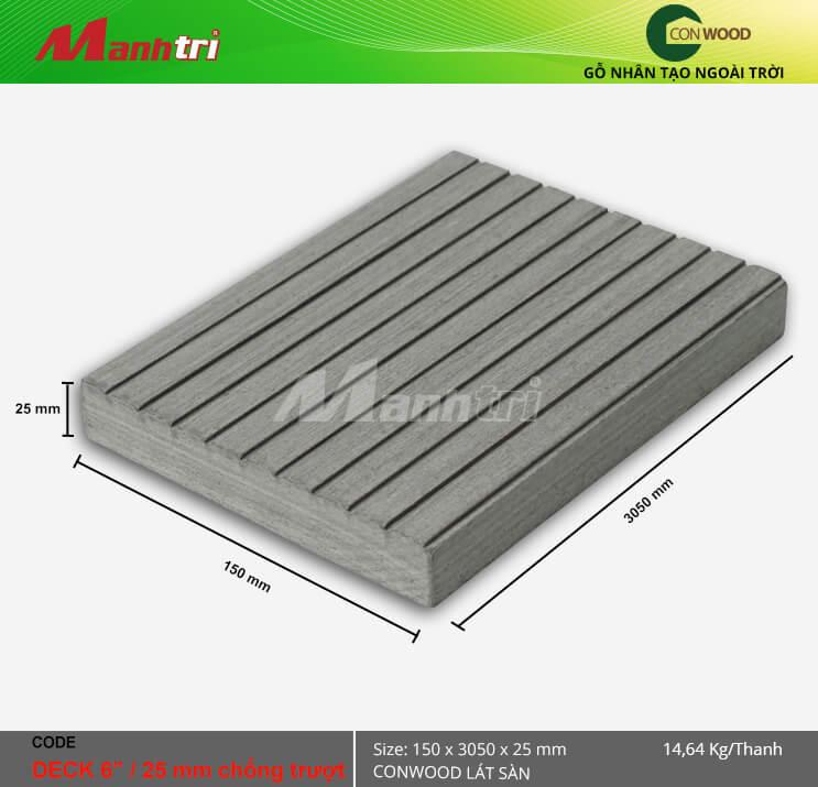 """Sàn gỗConwood Deck6""""/25 mm chống trượt"""