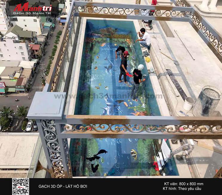 Công trình 3D ốp - lát hồ bơi ở quận 2