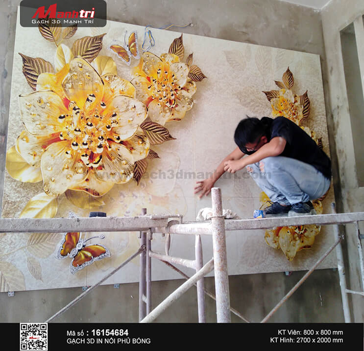 Công trình 3D ốp tường ở Hóc Môn