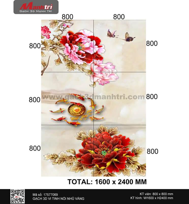 Cửu Ngư và Hồ Điệp bên hoa Mẫu Đơn